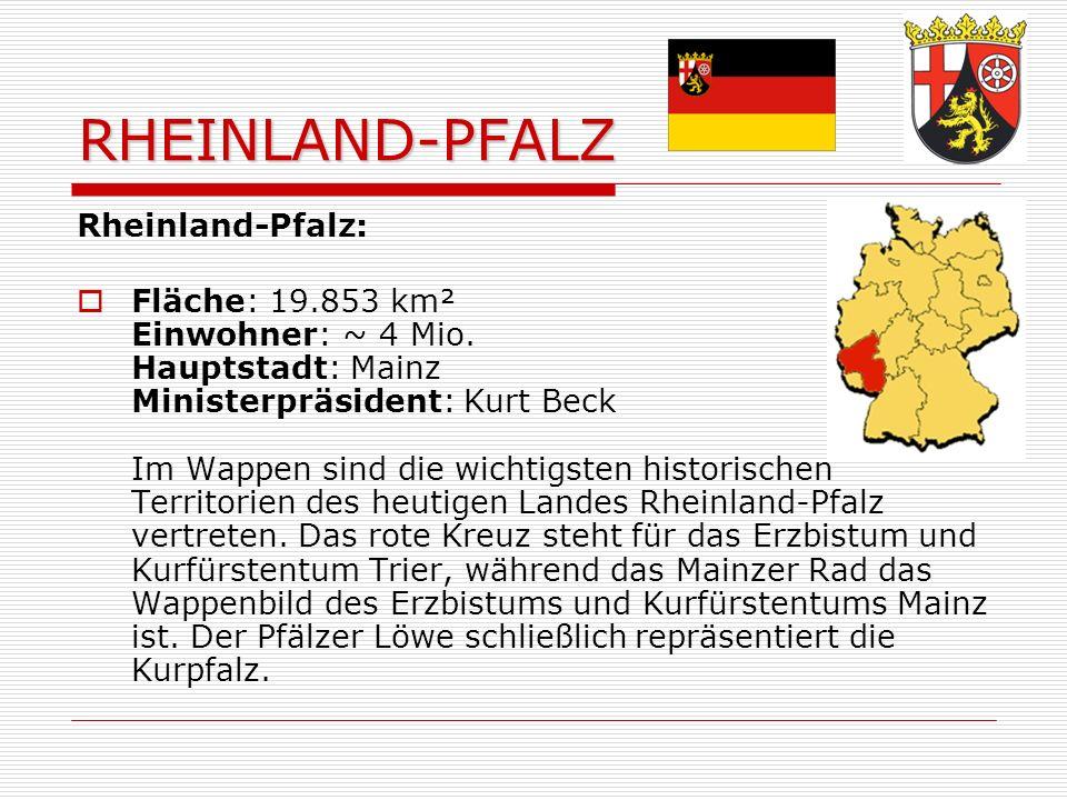 RHEINLAND-PFALZ Rheinland-Pfalz: