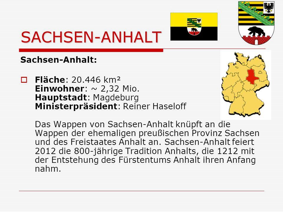 SACHSEN-ANHALT Sachsen-Anhalt: