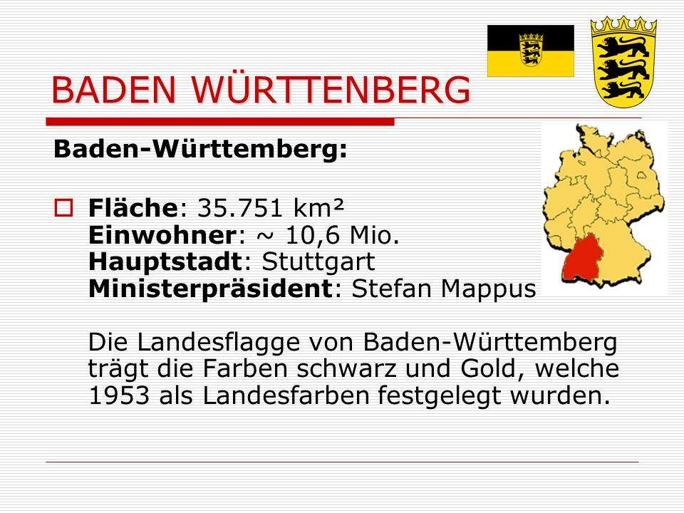 BADEN WÜRTTENBERG Baden-Württemberg: