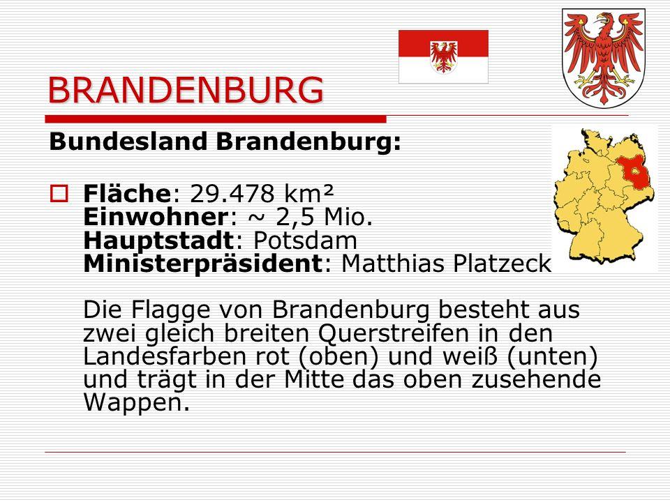 BRANDENBURG Bundesland Brandenburg: