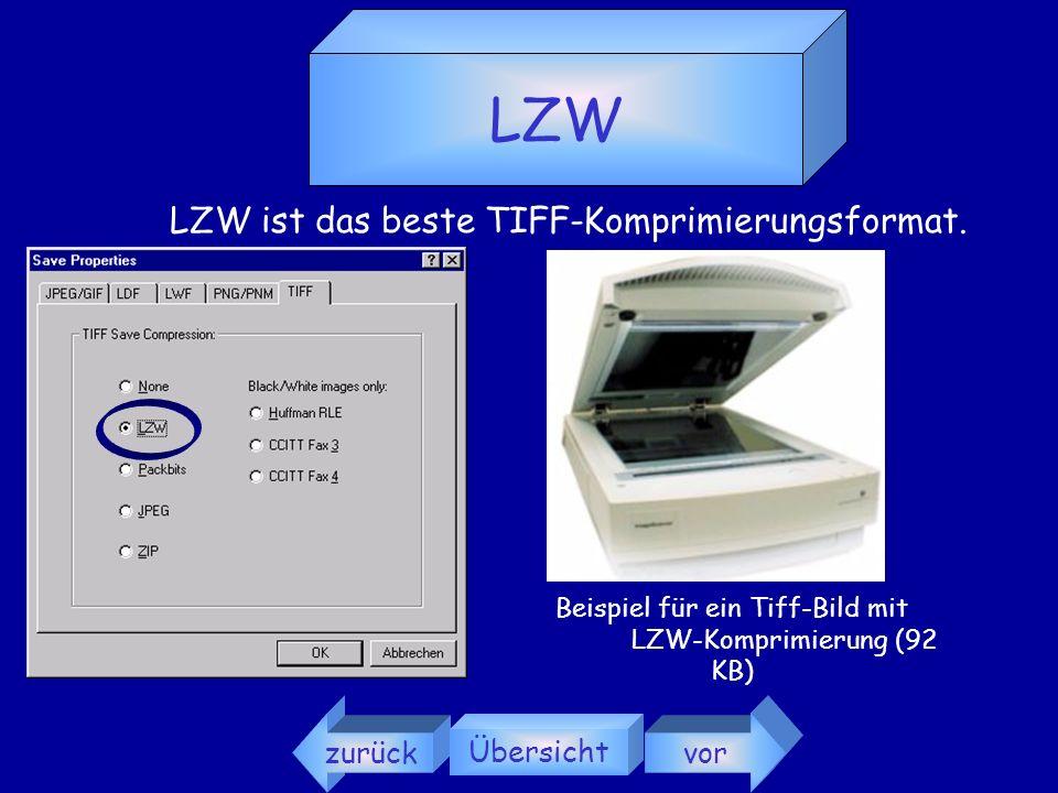 LZW LZW ist das beste TIFF-Komprimierungsformat. zurück Übersicht vor
