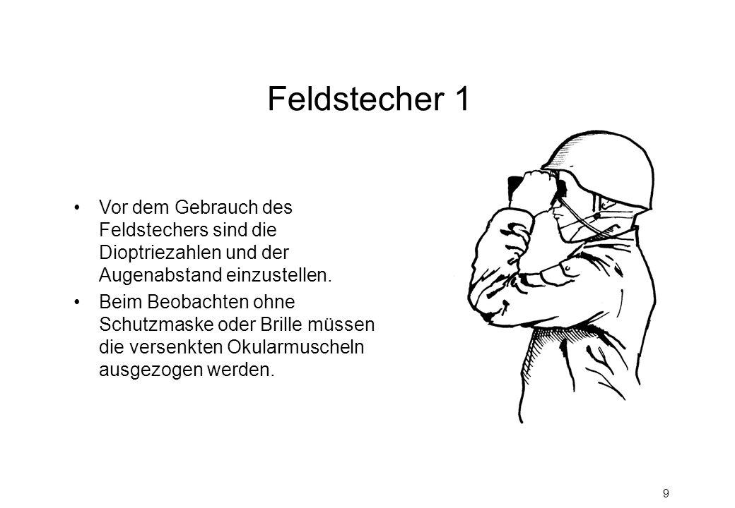 Feldstecher 1 Vor dem Gebrauch des Feldstechers sind die Dioptriezahlen und der Augenabstand einzustellen.