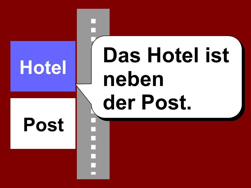 Das Hotel ist neben der Post. Hotel Post