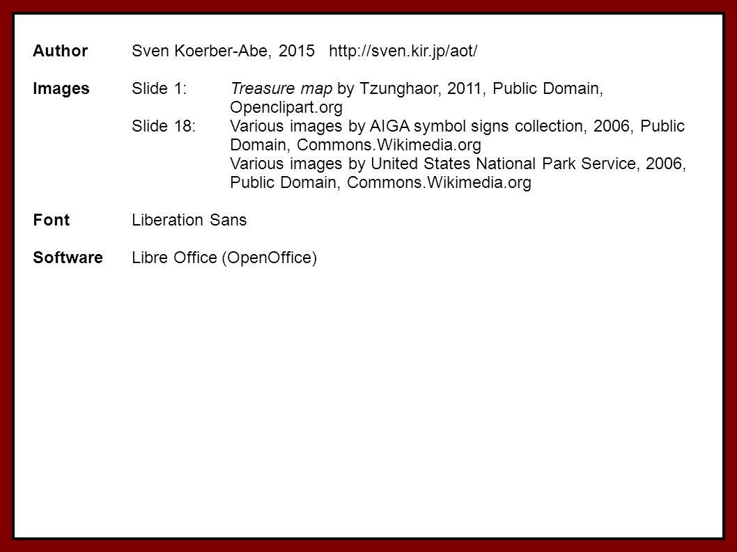 Author Sven Koerber-Abe, 2015 http://sven.kir.jp/aot/