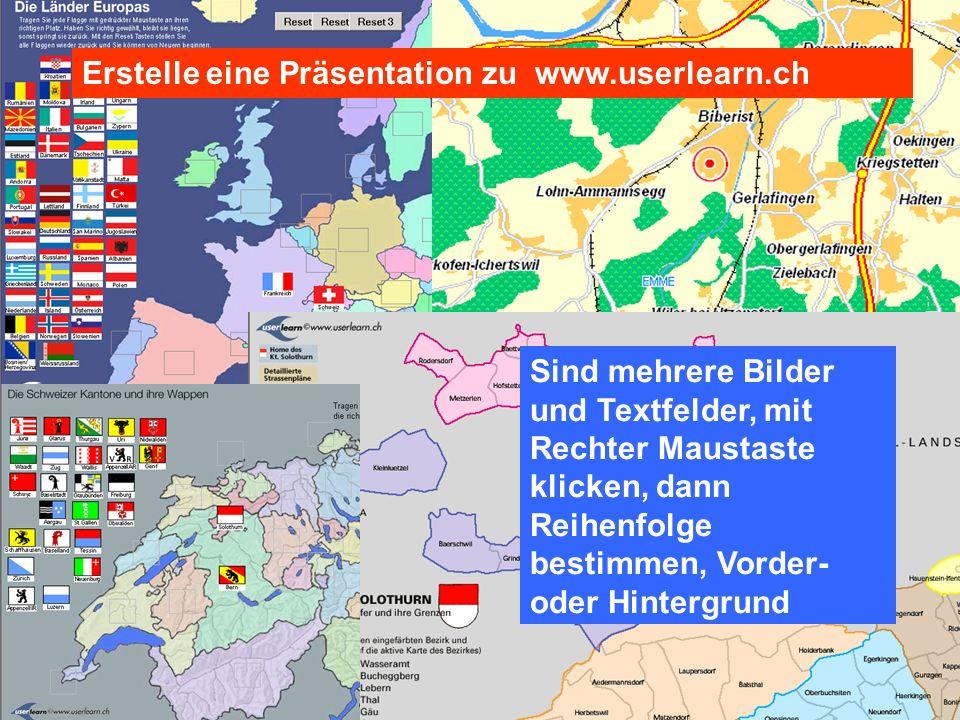 Erstelle eine Präsentation zu www.userlearn.ch