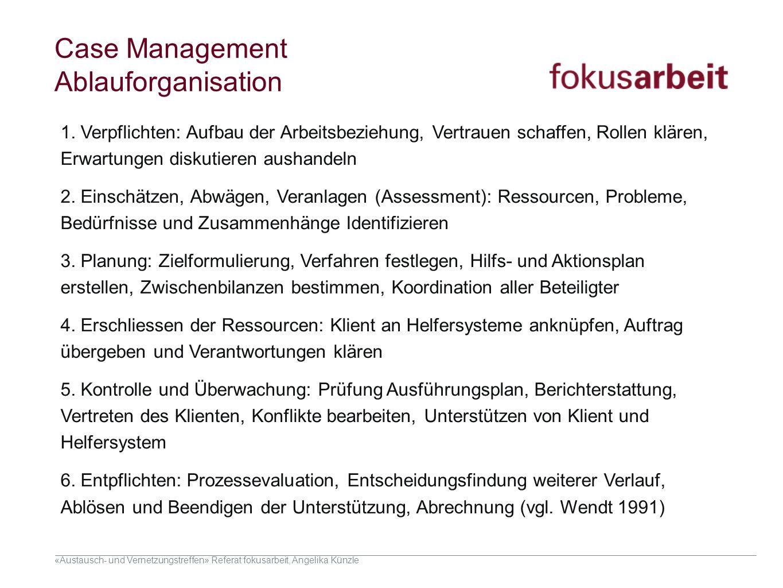 Case Management Ablauforganisation