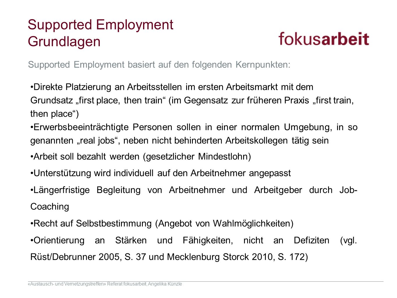 Supported Employment Grundlagen