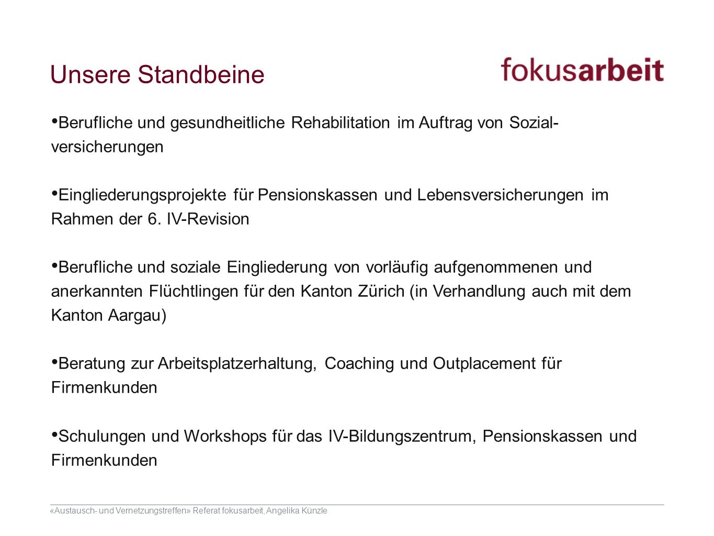 Unsere Standbeine Berufliche und gesundheitliche Rehabilitation im Auftrag von Sozial-versicherungen.