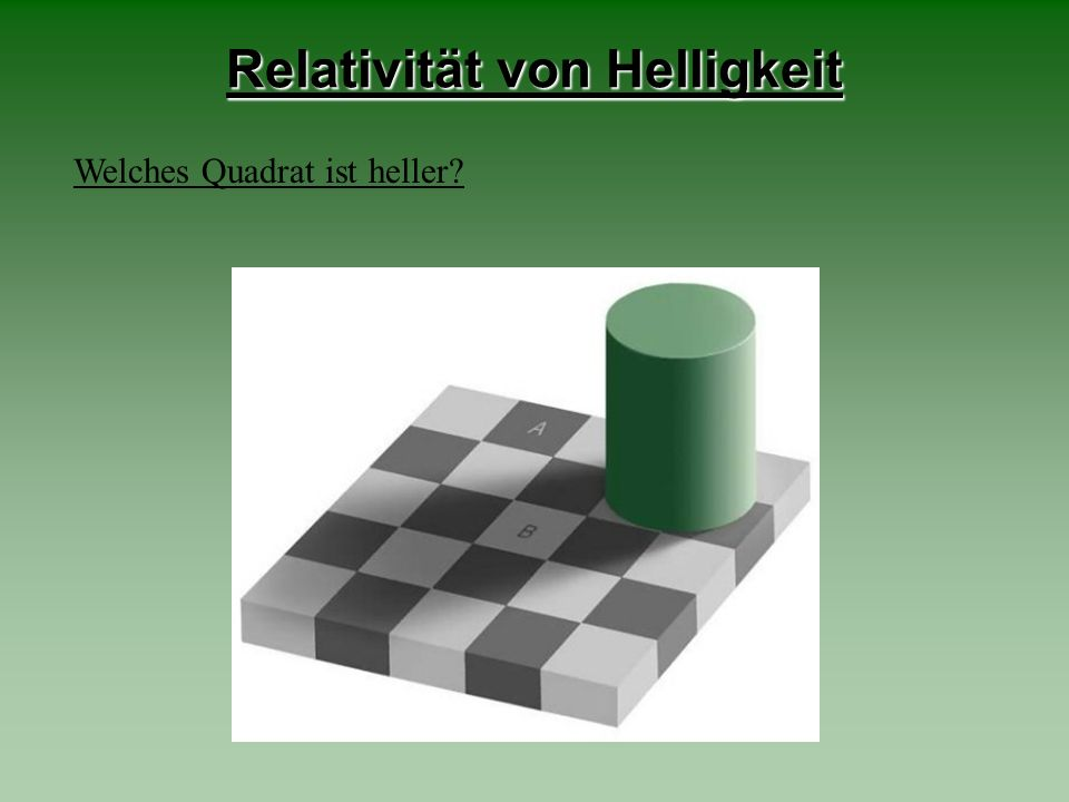Relativität von Helligkeit
