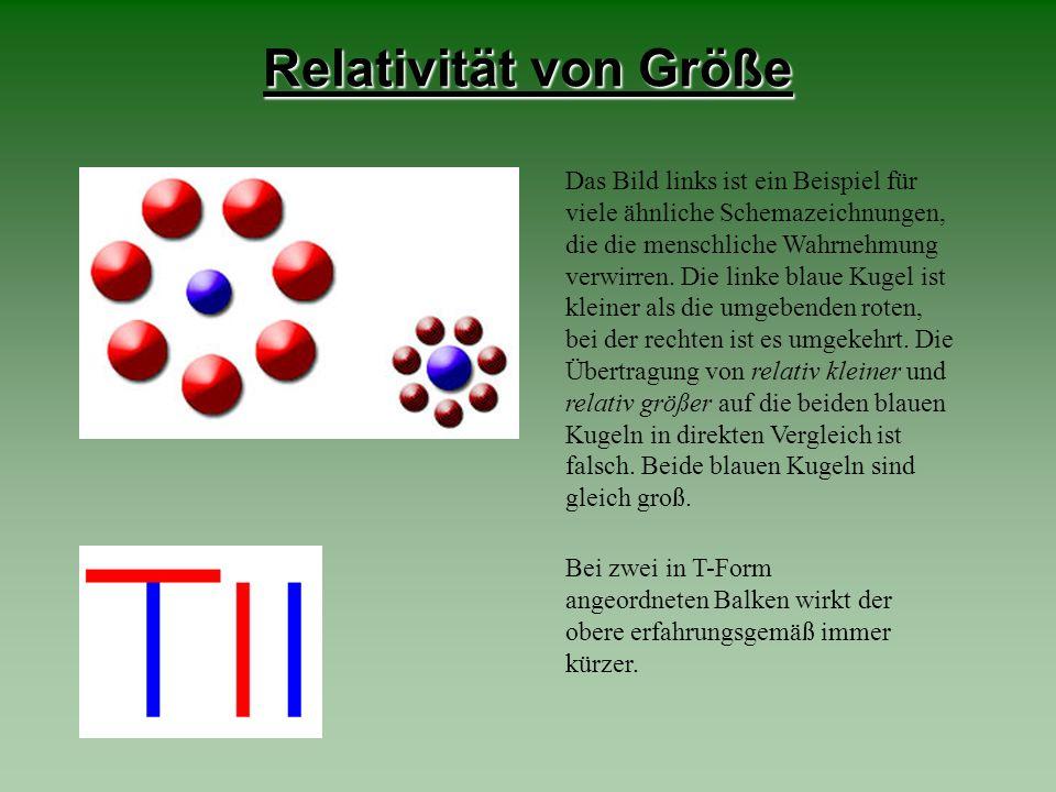 Relativität von Größe