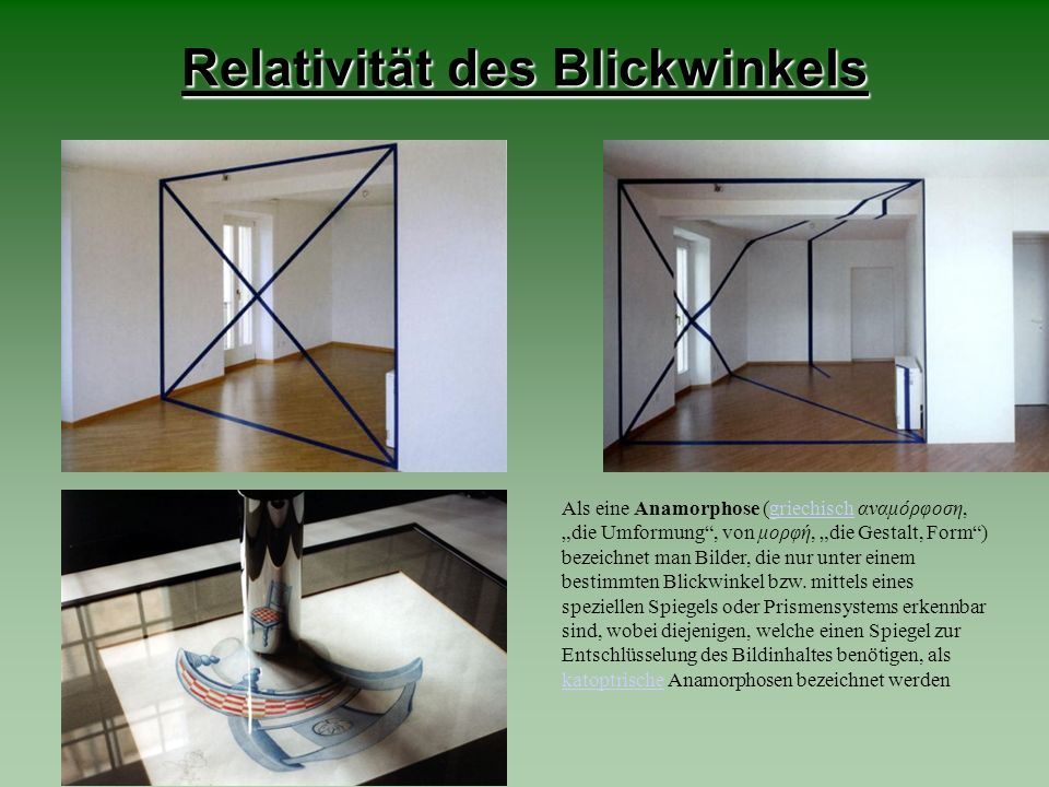 Relativität des Blickwinkels
