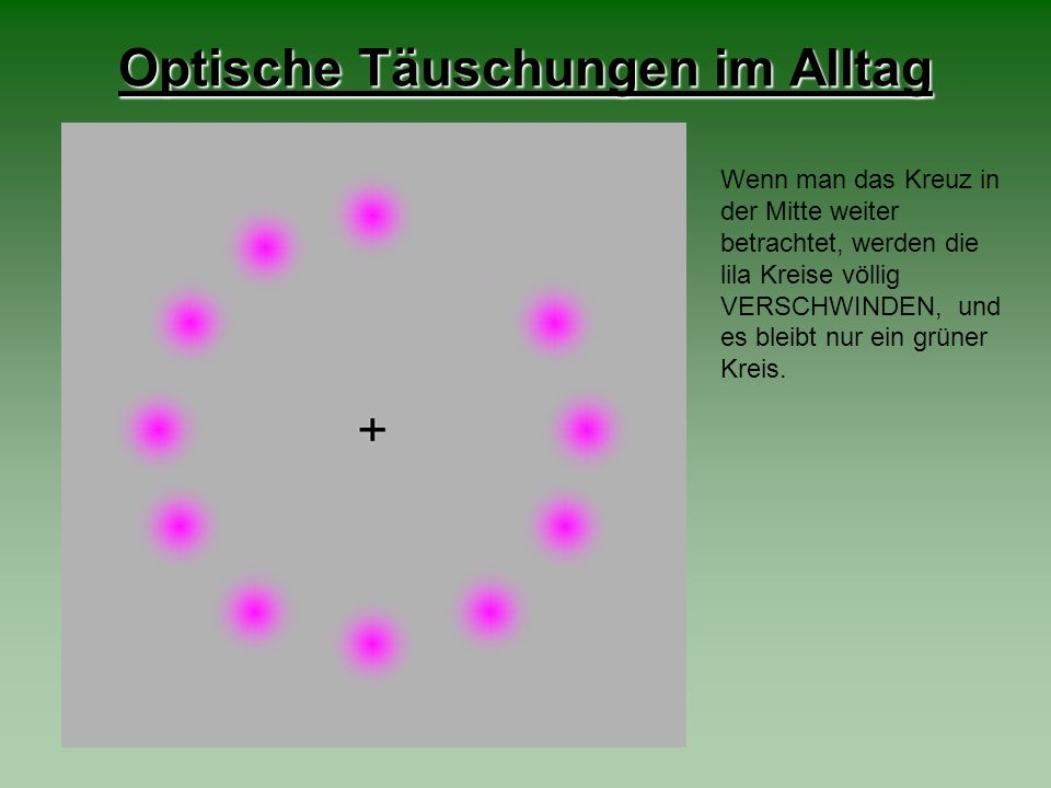 Optische Täuschungen im Alltag