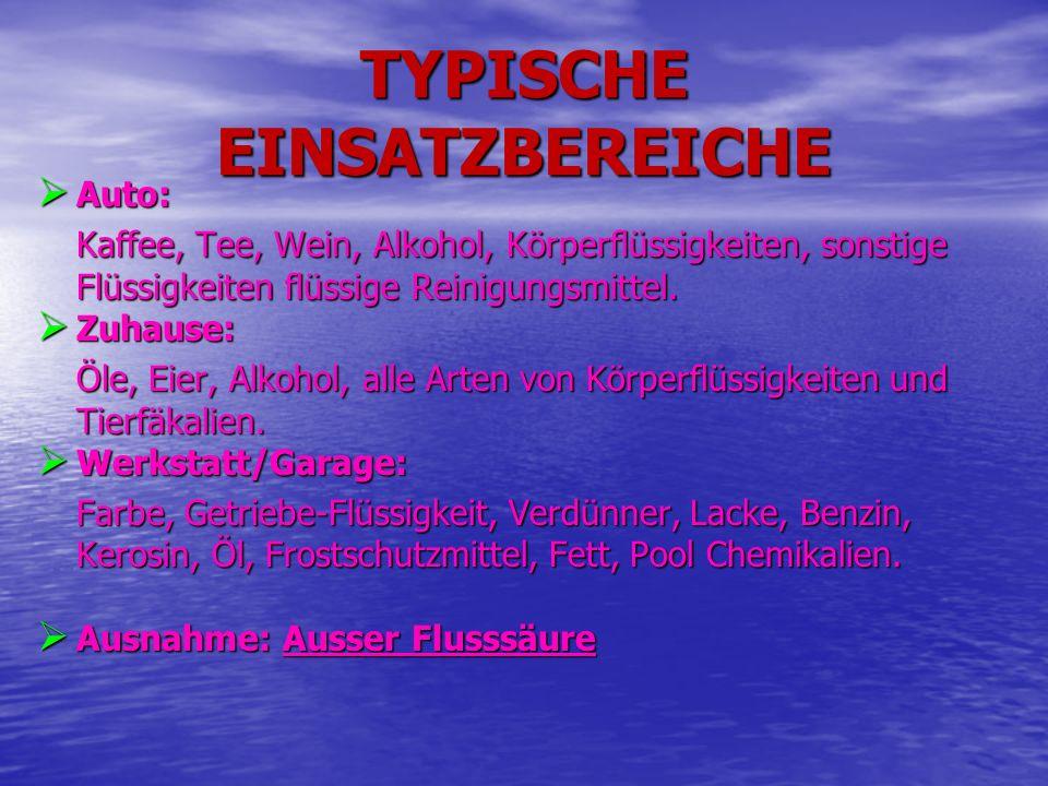 TYPISCHE EINSATZBEREICHE
