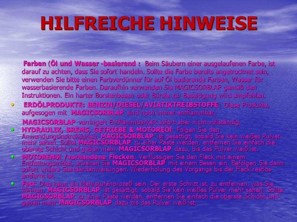 HILFREICHE HINWEISE