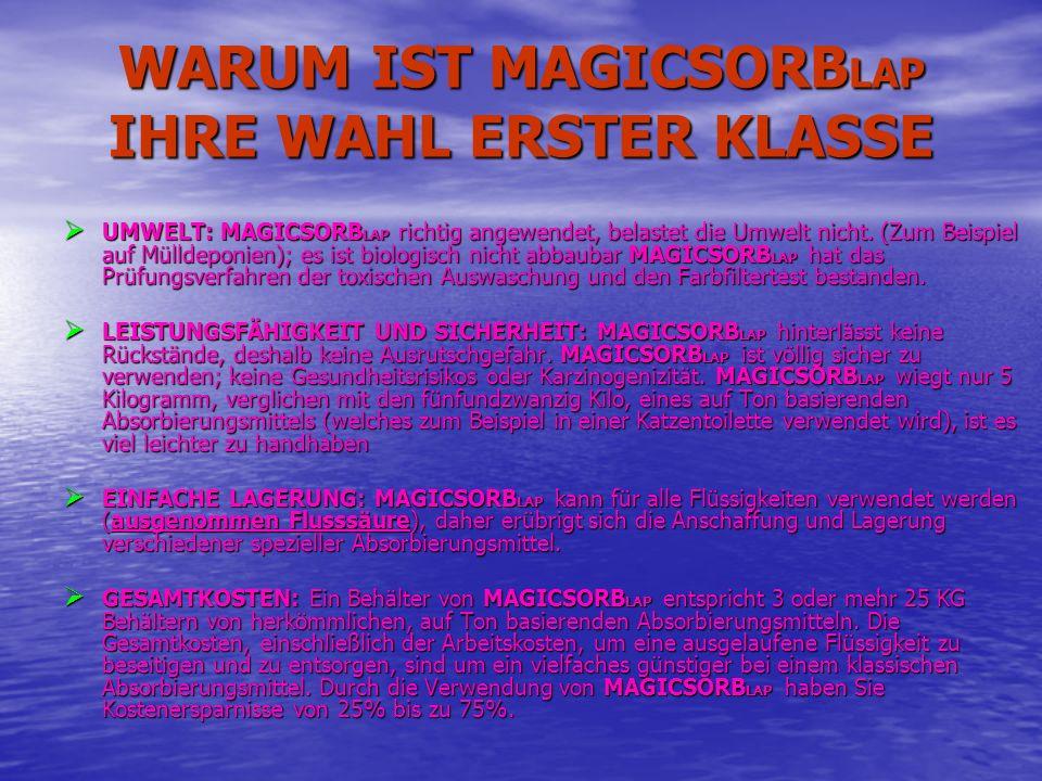 WARUM IST MAGICSORBLAP IHRE WAHL ERSTER KLASSE