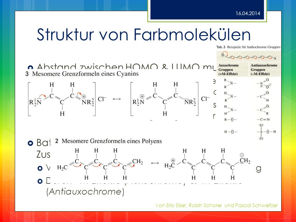 Struktur von Farbmolekülen