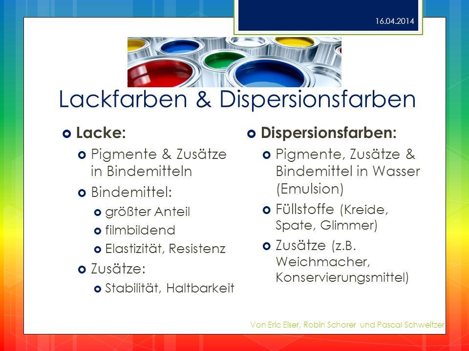 Lackfarben & Dispersionsfarben
