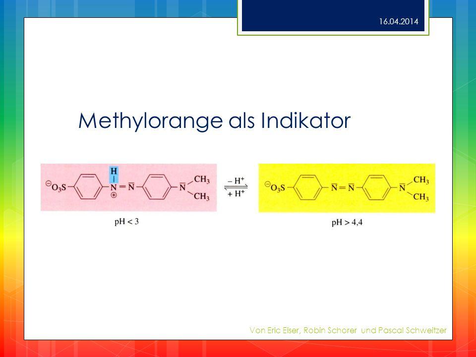 Methylorange als Indikator