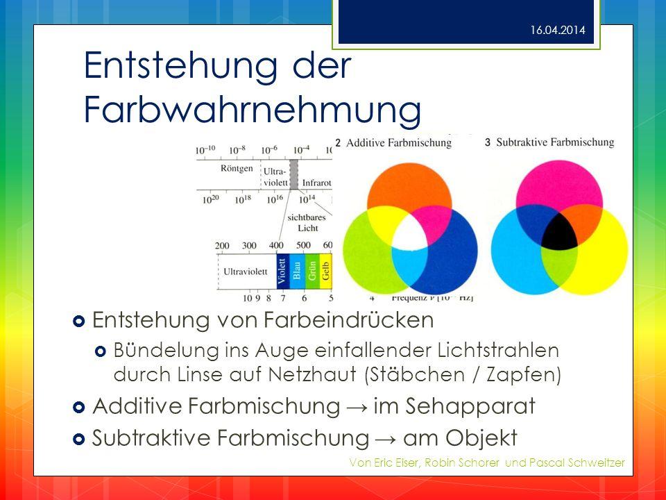 Entstehung der Farbwahrnehmung