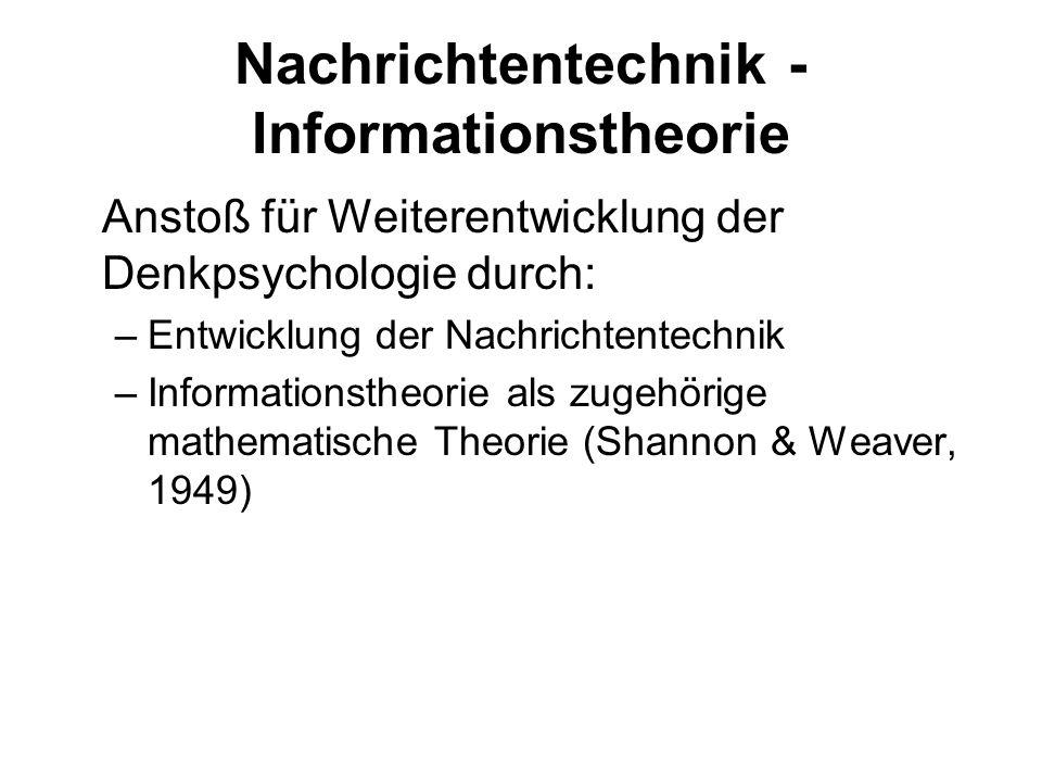 Nachrichtentechnik - Informationstheorie