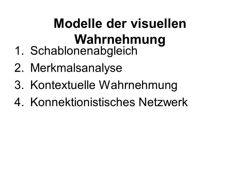Modelle der visuellen Wahrnehmung