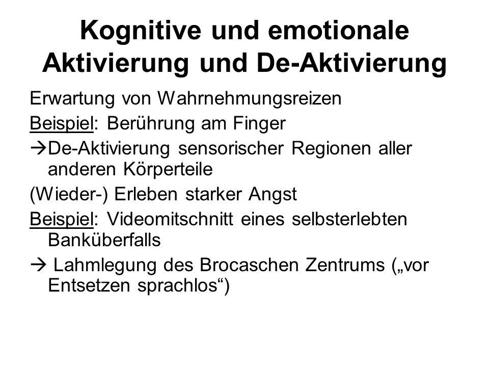 Kognitive und emotionale Aktivierung und De-Aktivierung