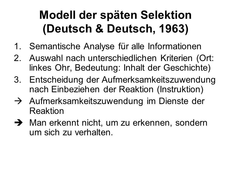 Modell der späten Selektion (Deutsch & Deutsch, 1963)