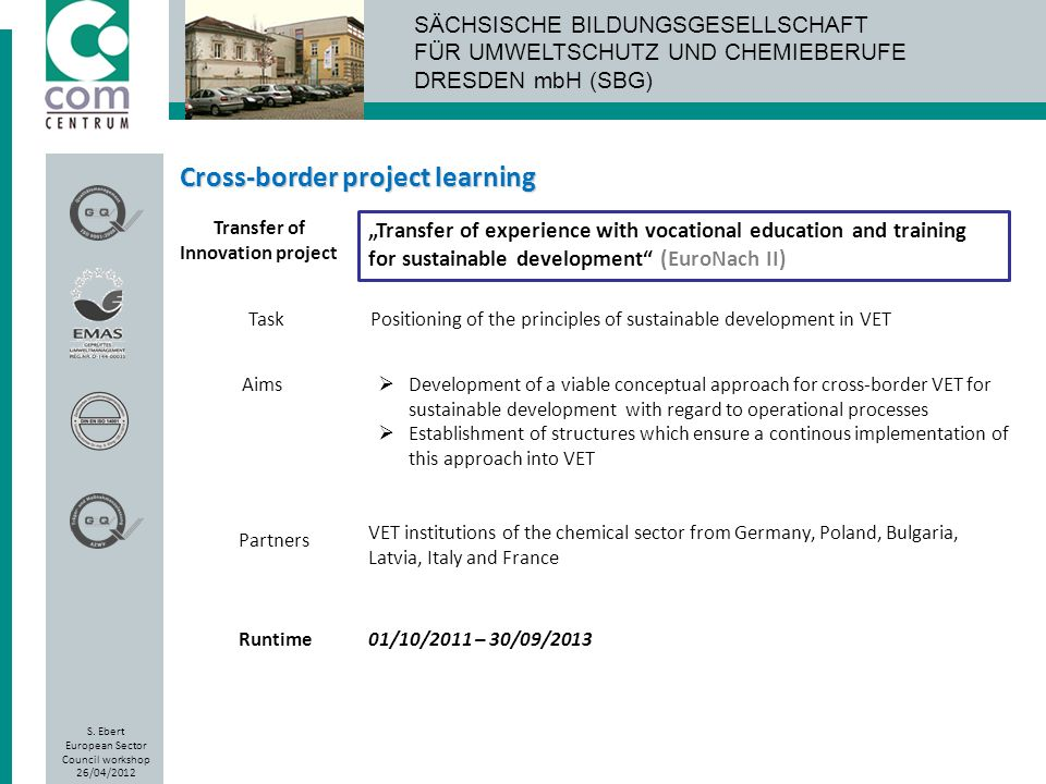 Transfer of Innovation project