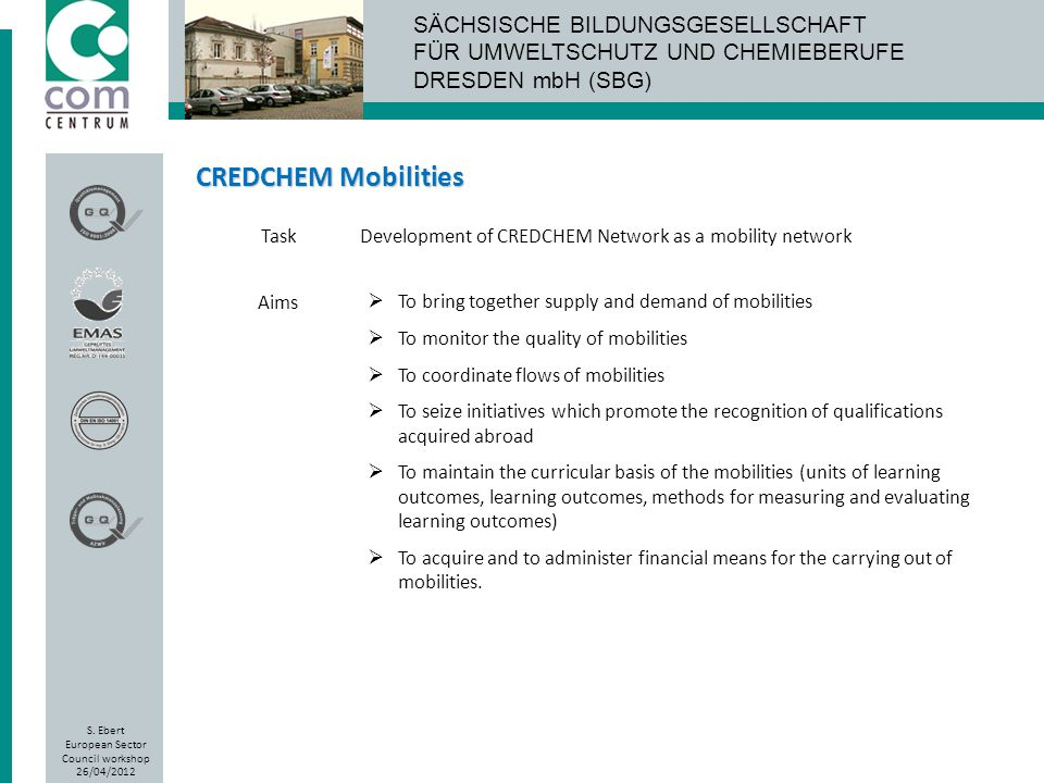 CREDCHEM Mobilities Task