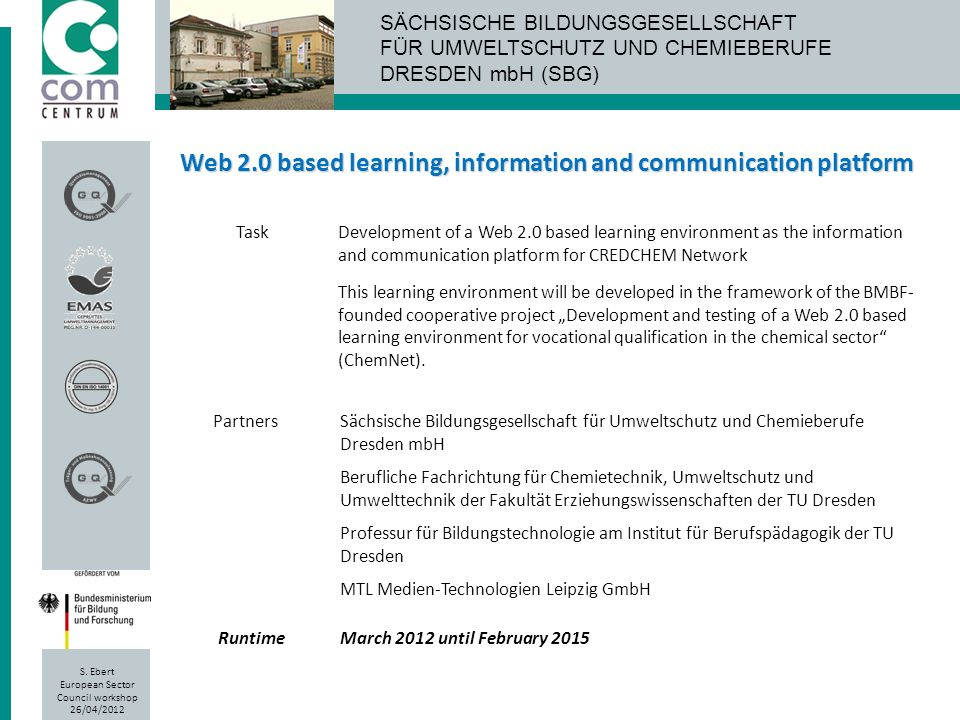 Web 2.0 based learning, information and communication platform