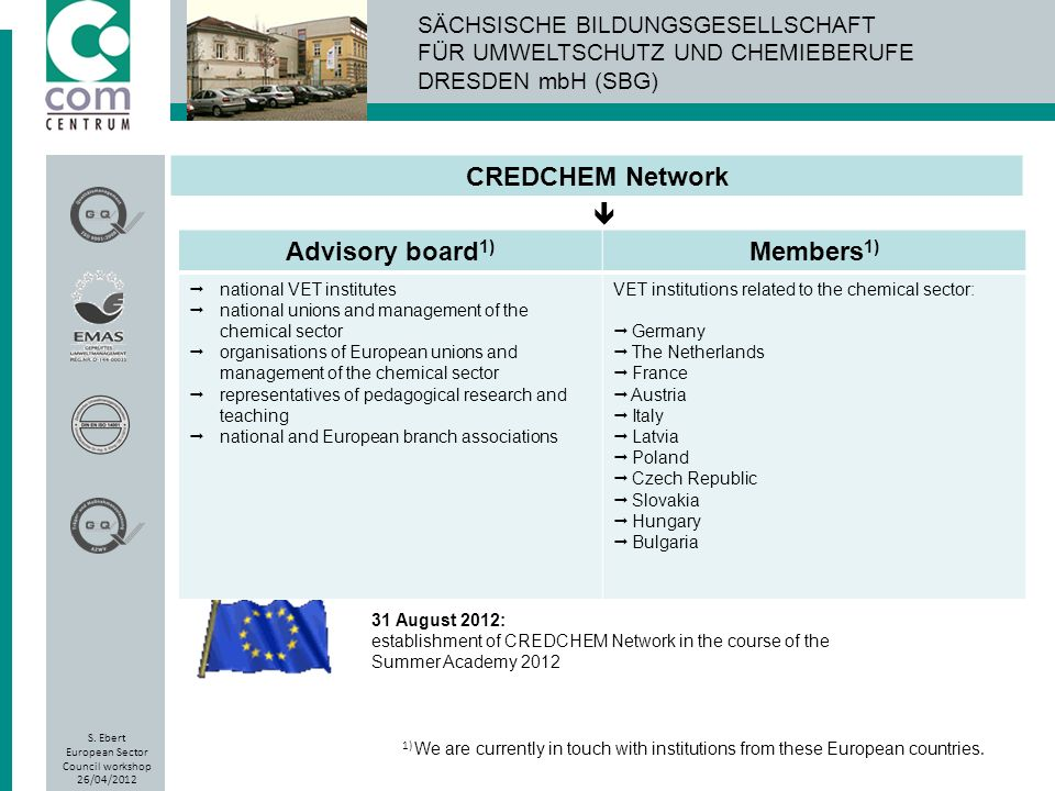 CREDCHEM Network Advisory board1) Members1)