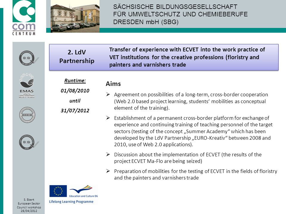 Transfer of experience with ECVET into the work practice of