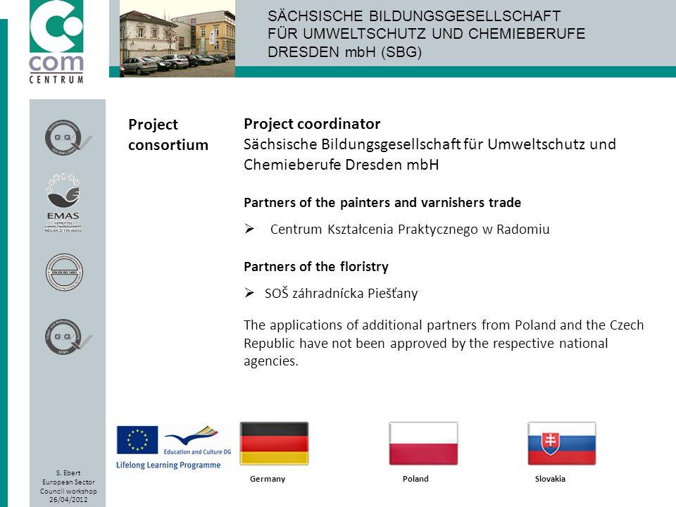 Project consortium Project coordinator