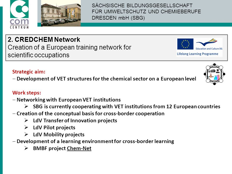 Creation of a European training network for scientific occupations