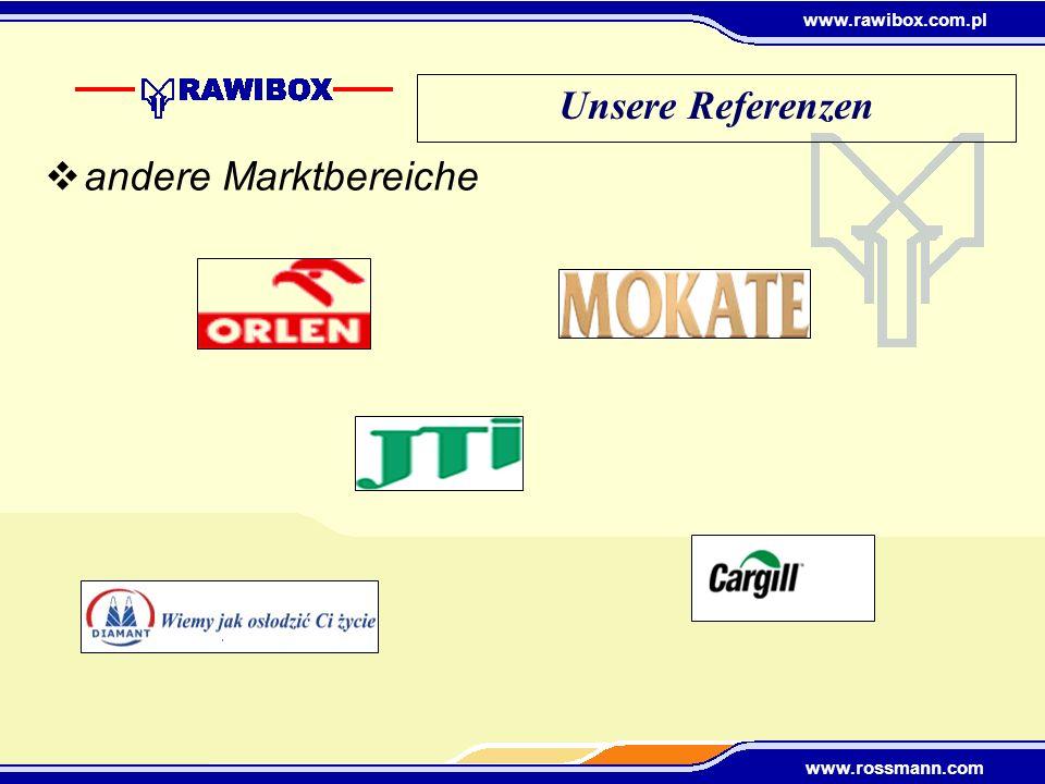 Unsere Referenzen andere Marktbereiche