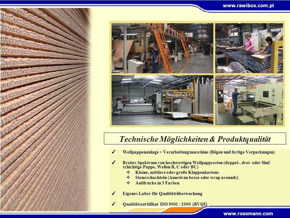 Technische Möglichkeiten & Produktqualität