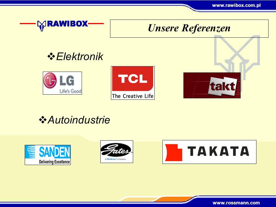 Unsere Referenzen Elektronik Autoindustrie