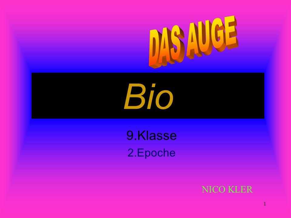 DAS AUGE Bio 9.Klasse 2.Epoche NICO KLER