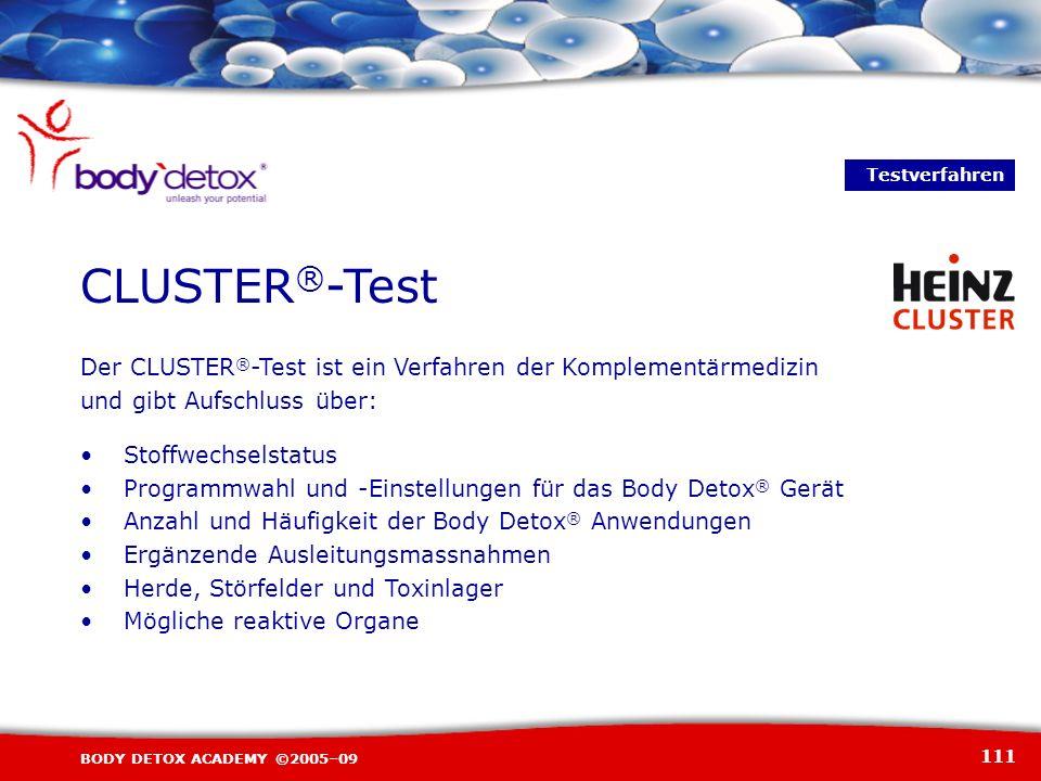 Testverfahren CLUSTER®-Test. Der CLUSTER®-Test ist ein Verfahren der Komplementärmedizin. und gibt Aufschluss über:
