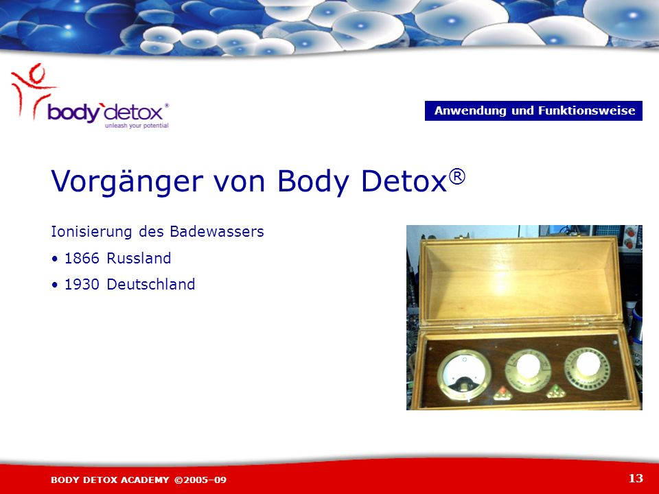 Vorgänger von Body Detox®