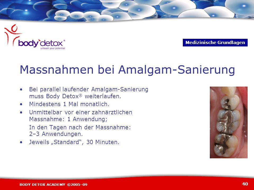 Massnahmen bei Amalgam-Sanierung