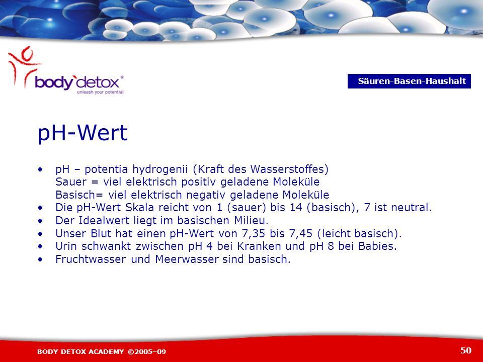 pH-Wert • pH – potentia hydrogenii (Kraft des Wasserstoffes)