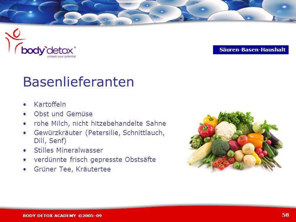 Basenlieferanten Kartoffeln Obst und Gemüse