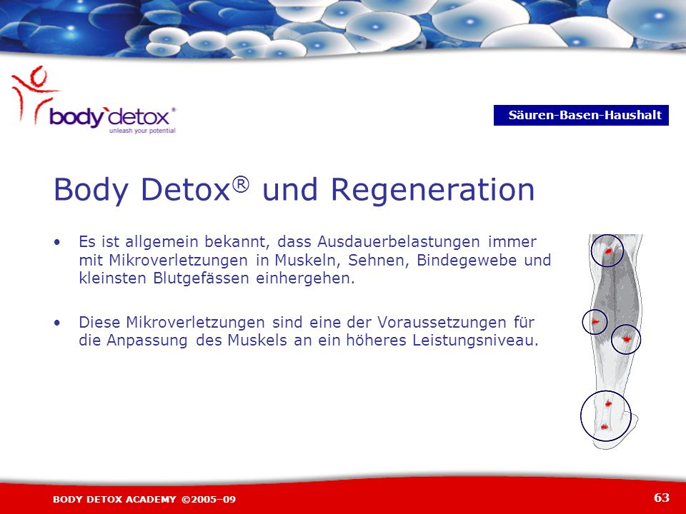 Body Detox® und Regeneration