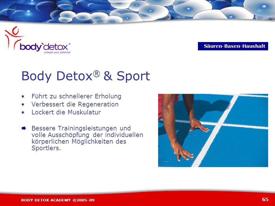 Body Detox® & Sport • Führt zu schnellerer Erholung