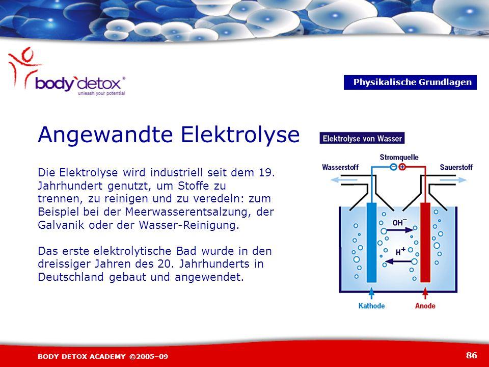 Angewandte Elektrolyse