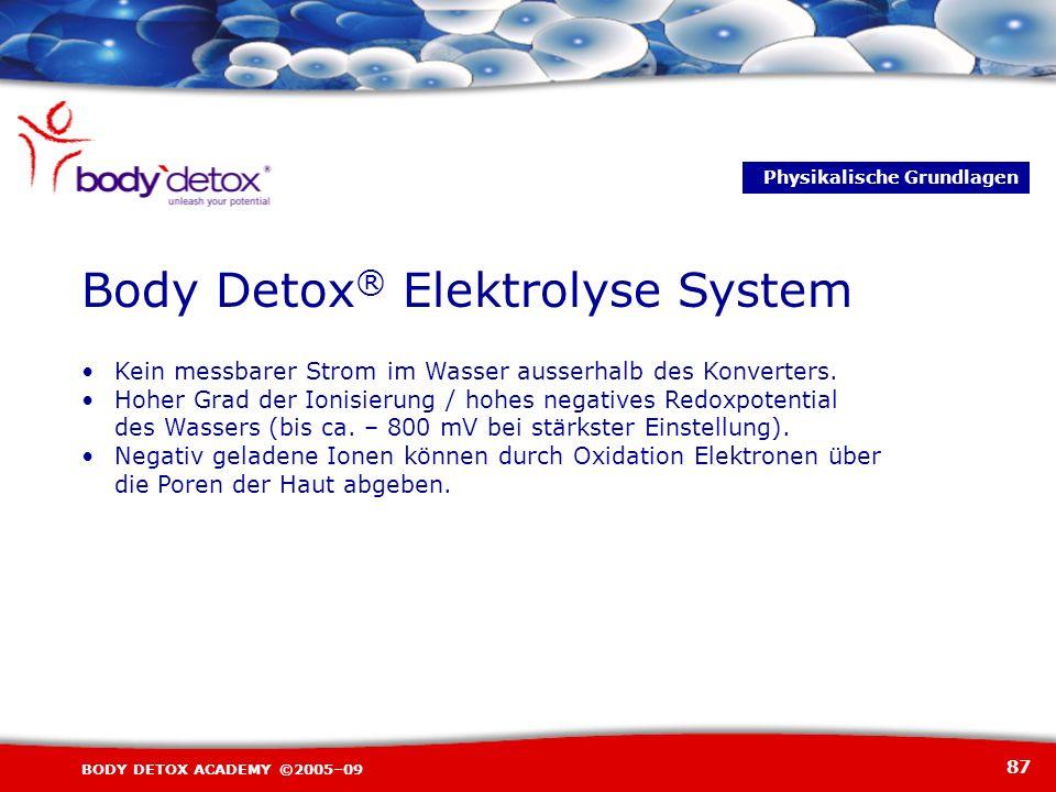 Body Detox® Elektrolyse System