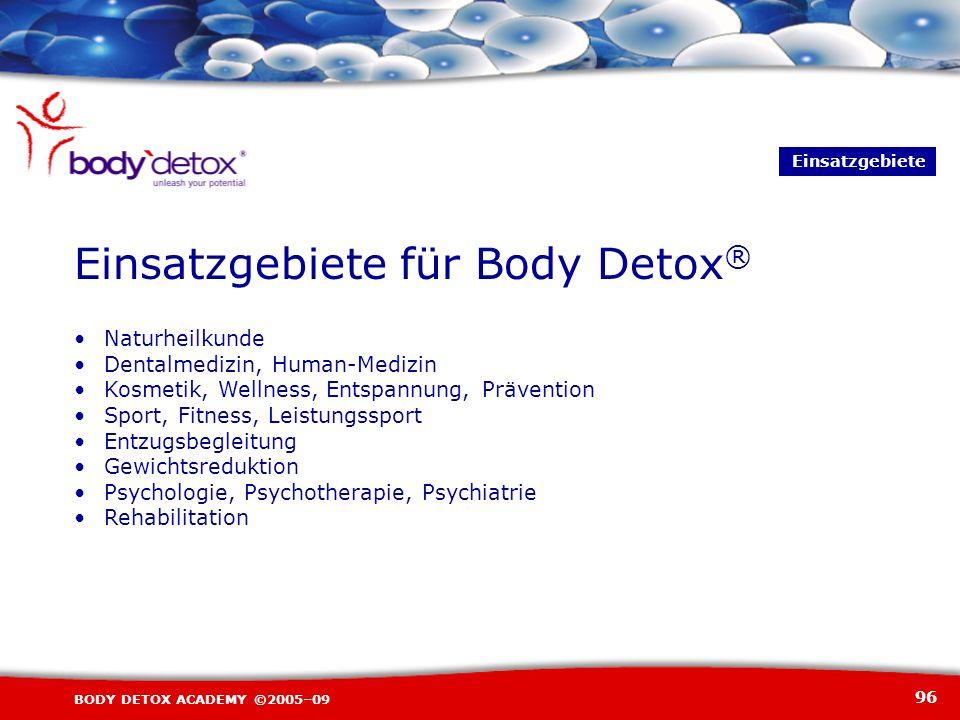 Einsatzgebiete für Body Detox®