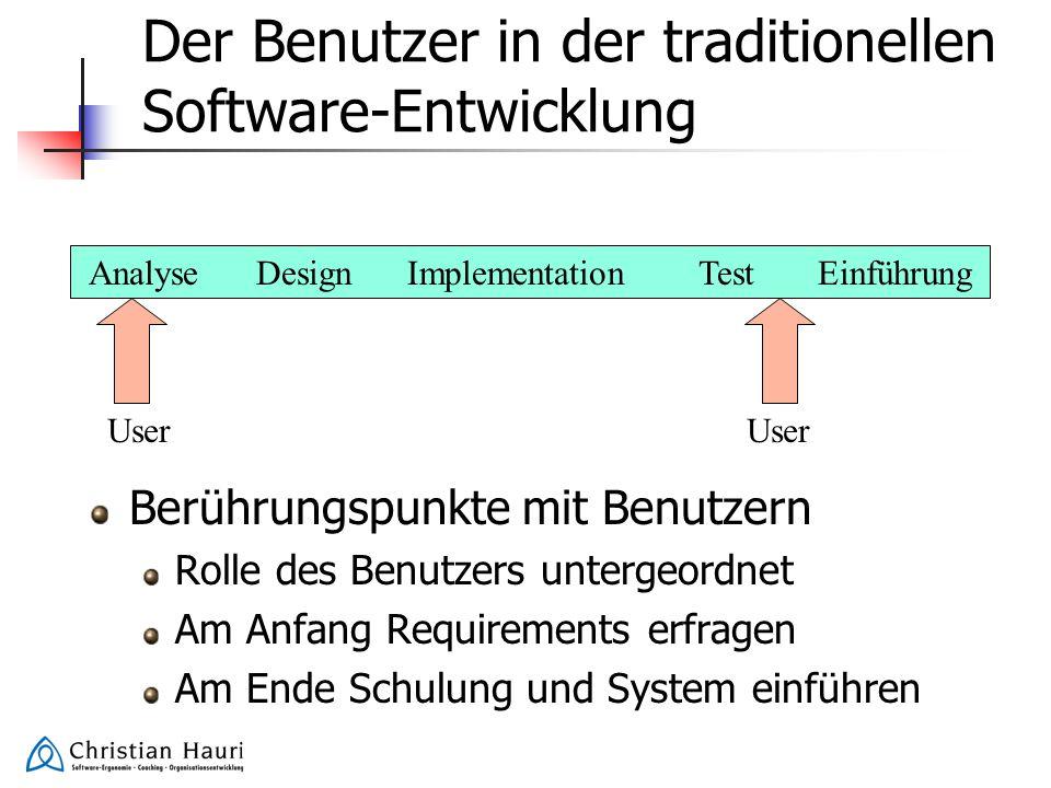 Der Benutzer in der traditionellen Software-Entwicklung