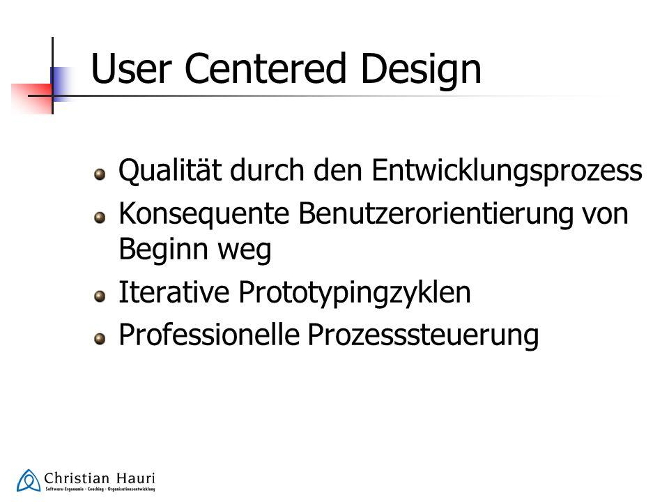 User Centered Design Qualität durch den Entwicklungsprozess